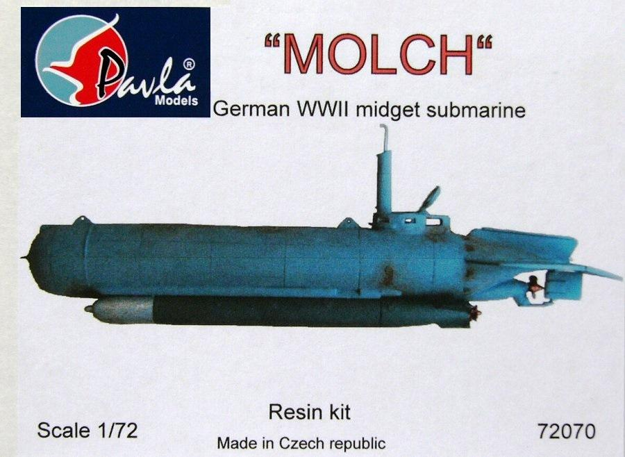 hobby-maquetas.net - PAVLA MODELS 72070 German Midget Submarine 'Molch' (Resin)