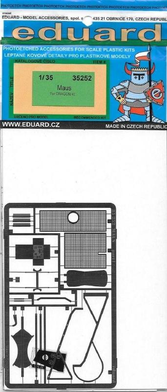 hobby-maquetas.net - EDUARD 35252 Set for German Super Heavy Tank 'Maus' (Dragon)