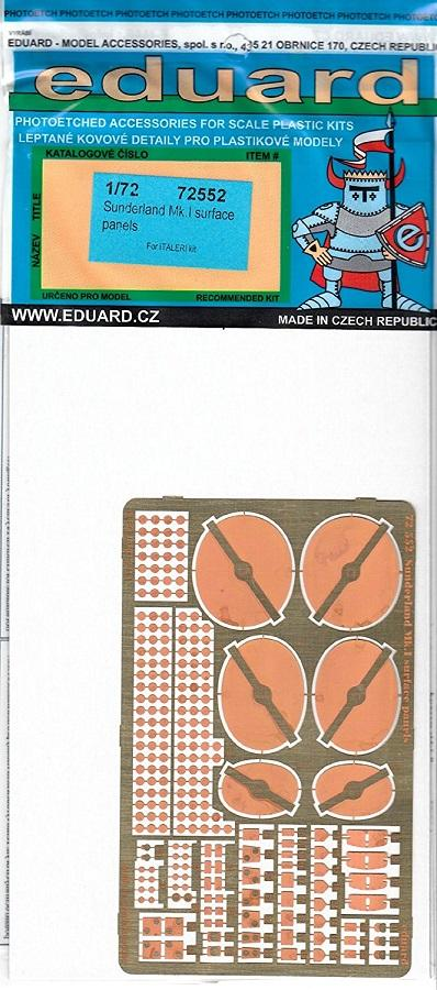 Francisco Javier Mairal Sallán - EDUARD 72552 Set for Sunderland Mk.I Surface Panels (Italeri)