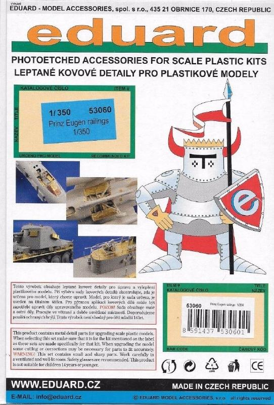 hobby-maquetas.net - EDUARD 53060 Superset for Prinz Eugen Railings (Trumpeter)