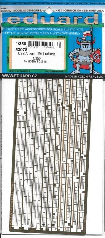 hobby-maquetas.net - EDUARD 53078 Set for U.S.S. Arizona 1941 Railings (HobbyBoss)