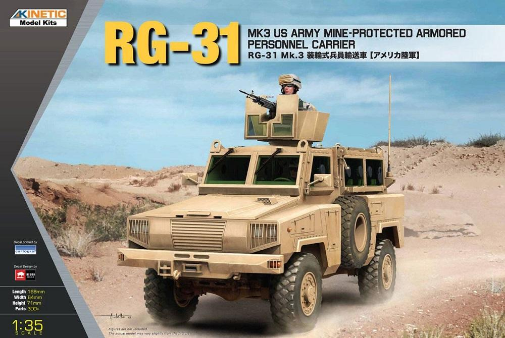 hobby-maquetas.net - KINETIC 61012 Mine-Protected Armored Personnel Carrier RG-31 Mk.3