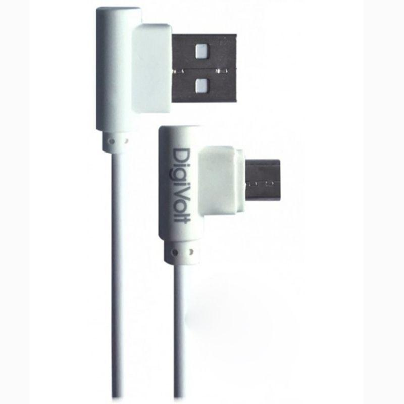 KareenaElectronics - DIGIVOLT CABLE GAME MICRO USB ACODADO - BLANCO