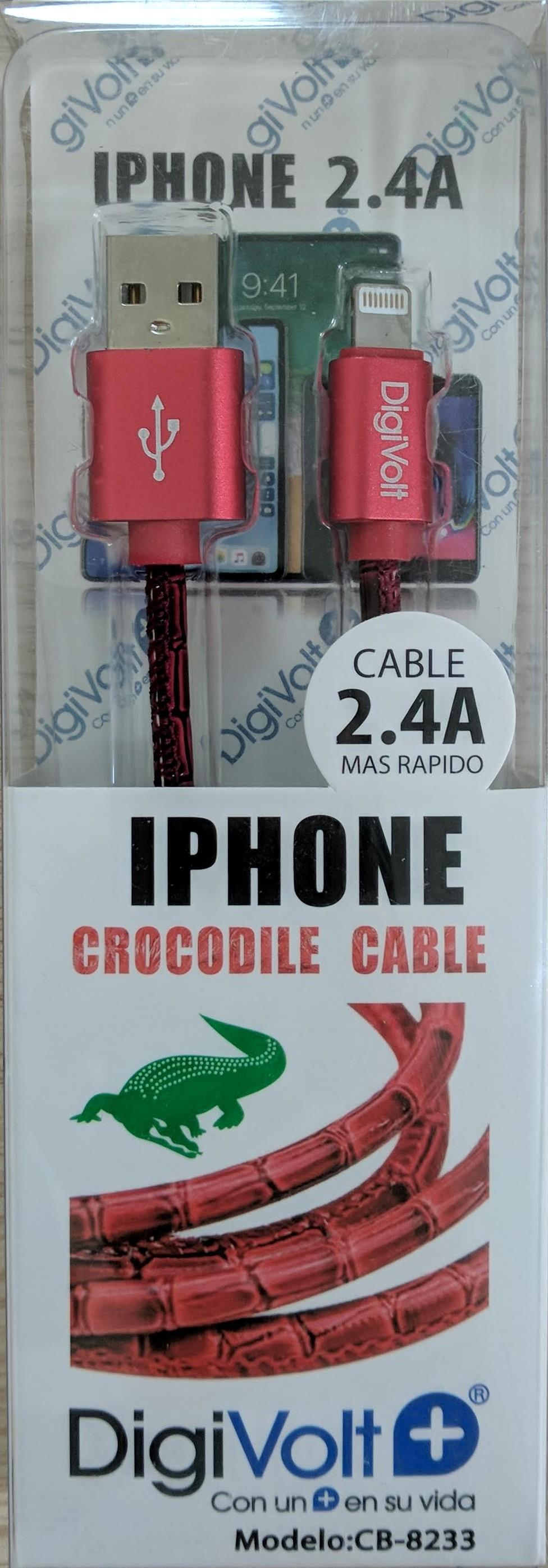 KareenaElectronics - DIGIVOLT CABLE CROCODILE IPHONE - ROJO