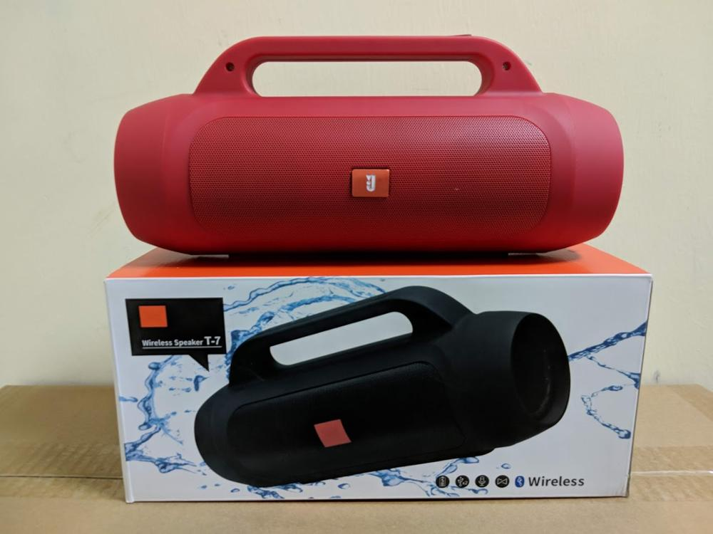 KareenaElectronics - WIRELESS SPEAKER T-7 - ALTAVOZ BLUETOOTH - ROJO