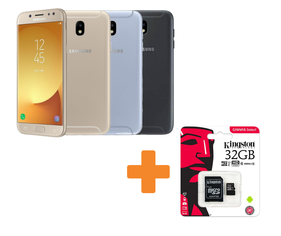 KareenaElectronics - SAMSUNG PACK J7 2017 J730F Negro + MICRO SD KINGSTON 32GB
