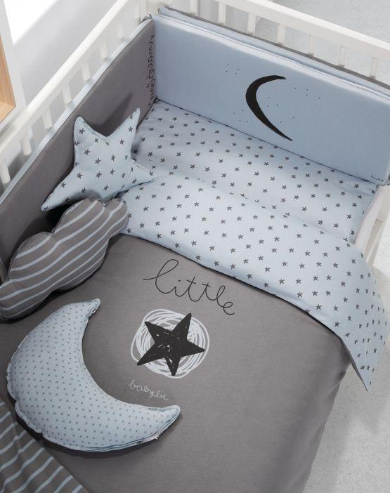 Maminess - Ropa Cuna + Protector Little Star Azul