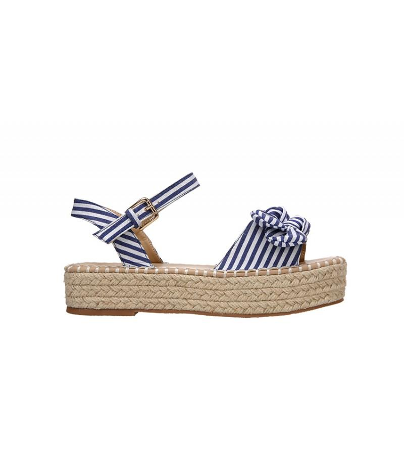 mariposasshop - SANDALIA ESPARTO NAVY