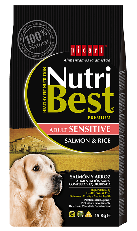 masquehocicos - Picart Nutribest Adult Sensitive Salmón y arroz