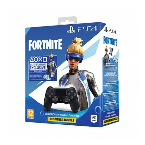 MOVILPLAZA INTERNET, S.L. - SONY PS4 Mando Dualshock 4 v2 Black + Fortnite