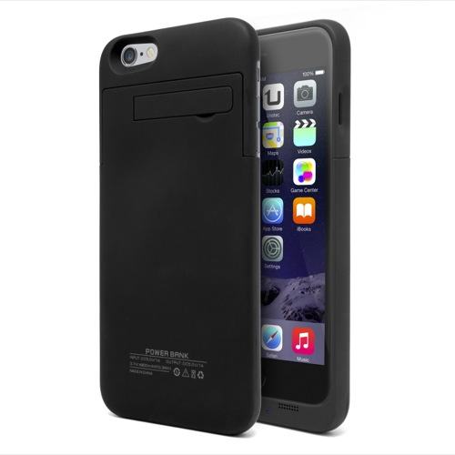 MOVILPLAZA INTERNET, S.L. - UNOTEC Funda Batería iPhone 6 Plus PowerCase Negra