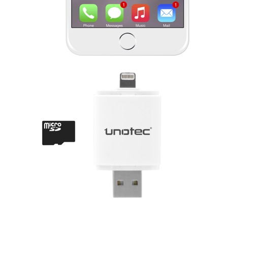 MOVILPLAZA INTERNET, S.L. - UNOTEC iDrive Lector Lightning para iPhone y iPad