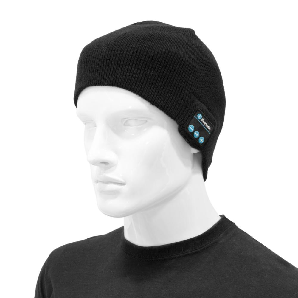 MOVILPLAZA INTERNET, S.L. - UNOTEC Gorro con Auriculares Bluetooth Negro