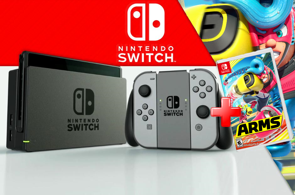 MOVILPLAZA INTERNET, S.L. - Nintendo Switch Videoconsola + Juego Arms