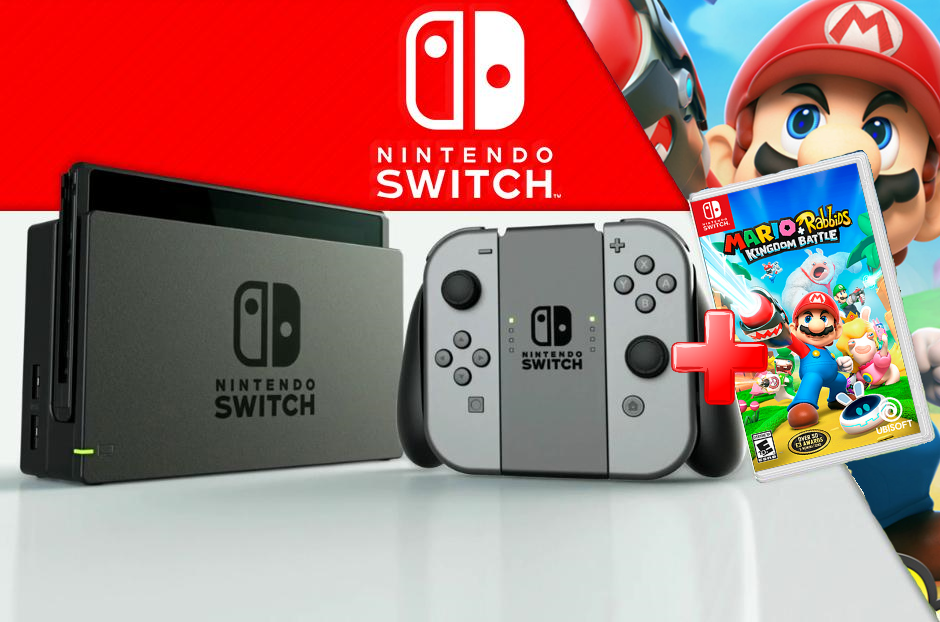 MOVILPLAZA INTERNET, S.L. - Nintendo Switch Videoconsola + Juego Mario Rabbids