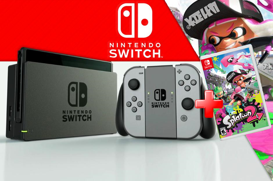 MOVILPLAZA INTERNET, S.L. - Nintendo Videoconsola Nintendo Switch + Juego Splatoon 2