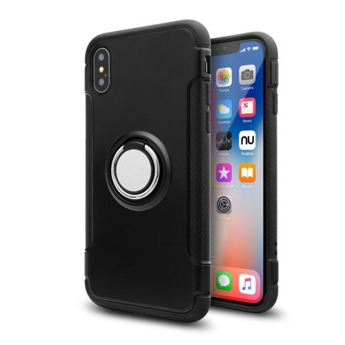 MOVILPLAZA INTERNET, S.L. - UNOTEC Funda Ring Armor para iPhone X/XS