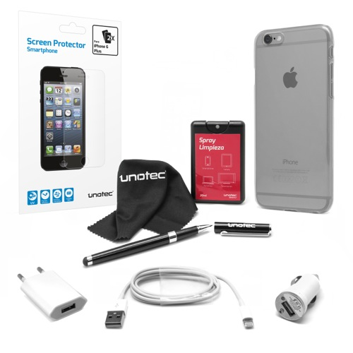 MOVILPLAZA INTERNET, S.L. - UNOTEC Pack Esencial para iPhone 6 Plus