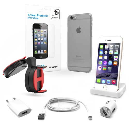 MOVILPLAZA INTERNET, S.L. - UNOTEC Pack Esencial para iPhone 6