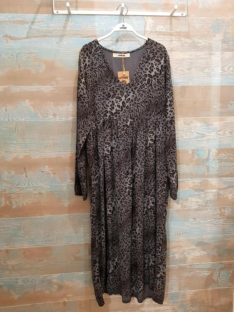 mywaybrand - VESTIDO LARGO ANIMAL PRINT