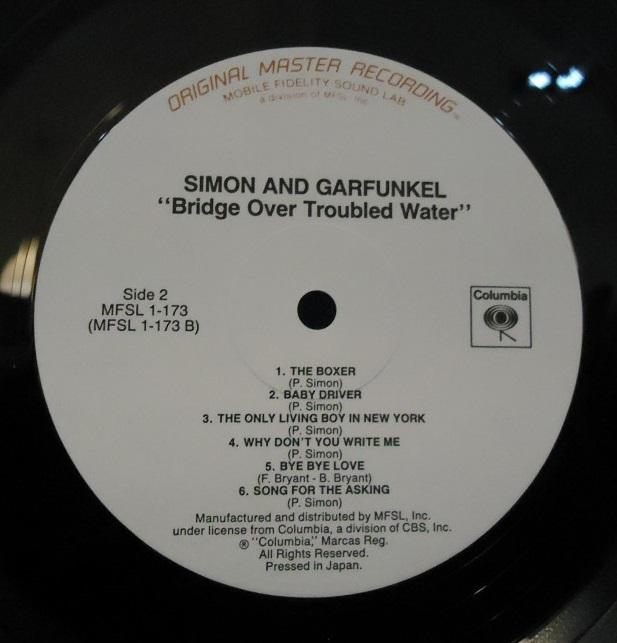 Nakasha - LP Simon And Garfunkel ‎– Bridge Over Troubled Water  Mobile Fidelity Sound Lab Vinyl NM Cover VG+++