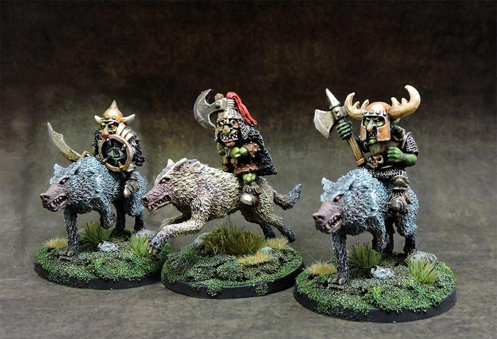 nightmaregames - Black goblins wolf riders