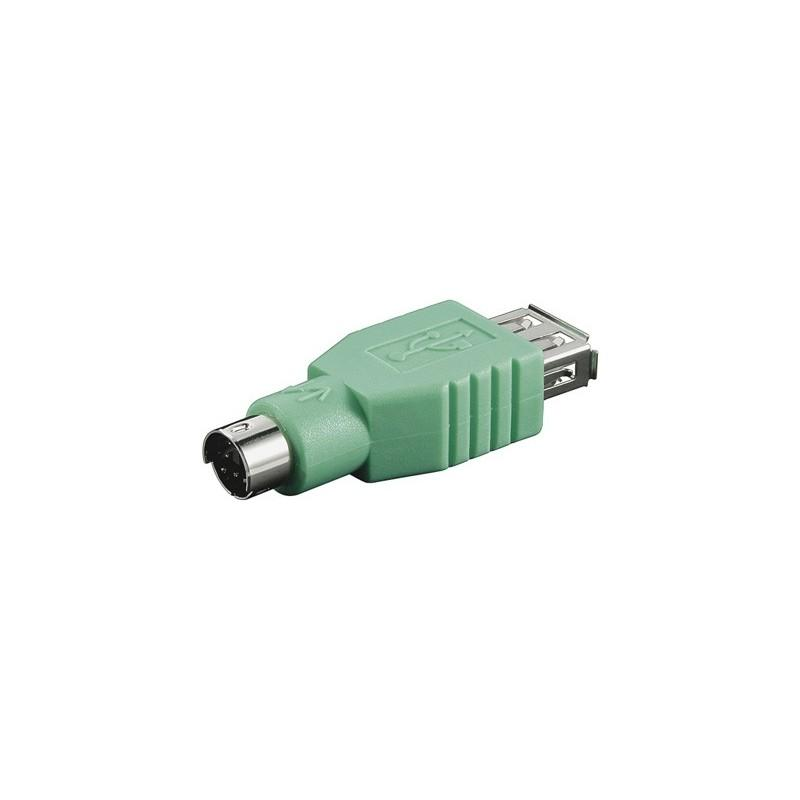 TELECO ALBACETE - NanoCable Adaptador USB a hembra a Mini Din 6/M (PS/2)