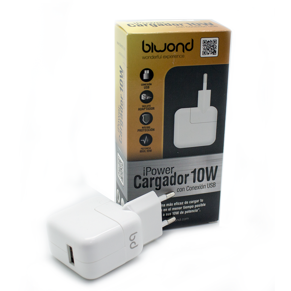 tiendayphone - Cargador Pared 10W (2.1A) iPower USB tablet