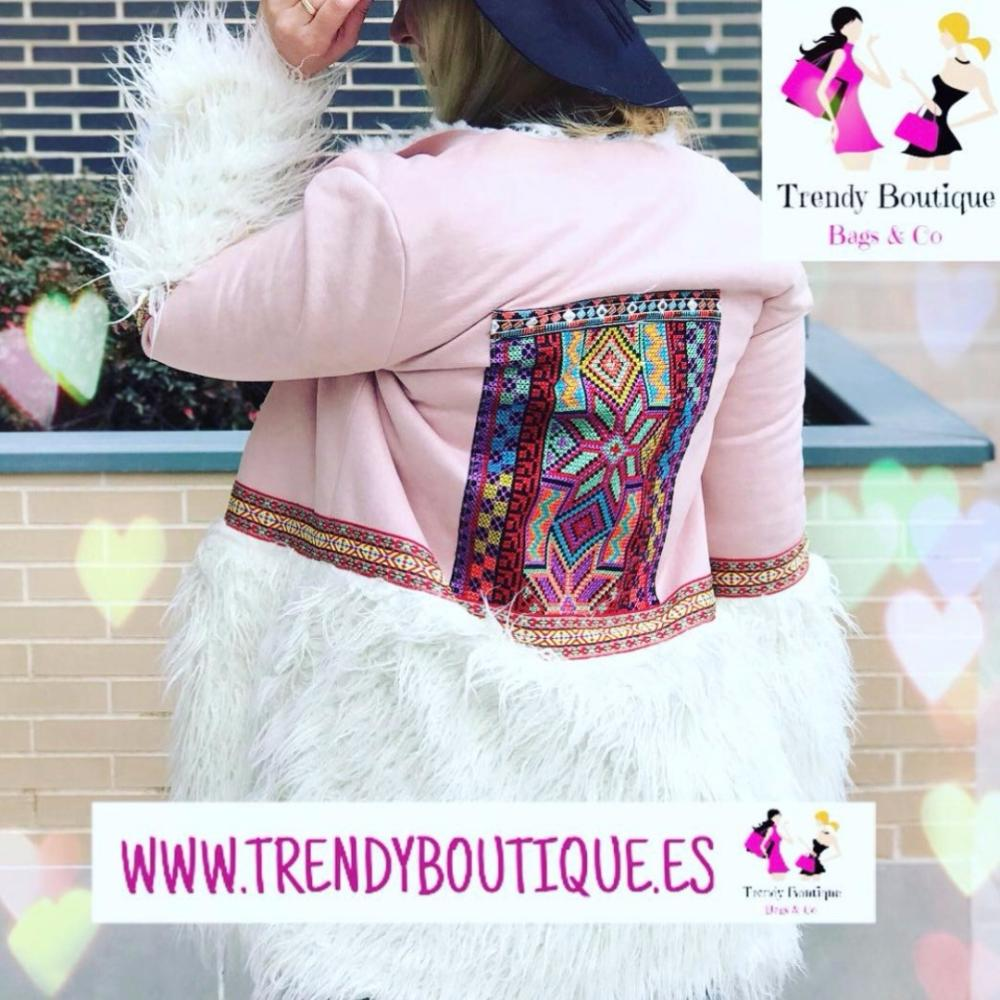 Trendy Boutique - ABRIGO ELSA ROSA