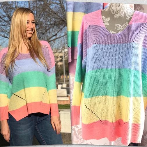 Trendy Boutique - JERSEY ARCOIRIS PASTEL