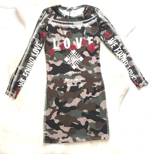 Trendy Boutique - VESTIDO ARMY LOVE
