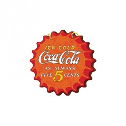 TUCORREOS.ES - CHAPA PARED 15X15 CMS COCA COLA FIVE