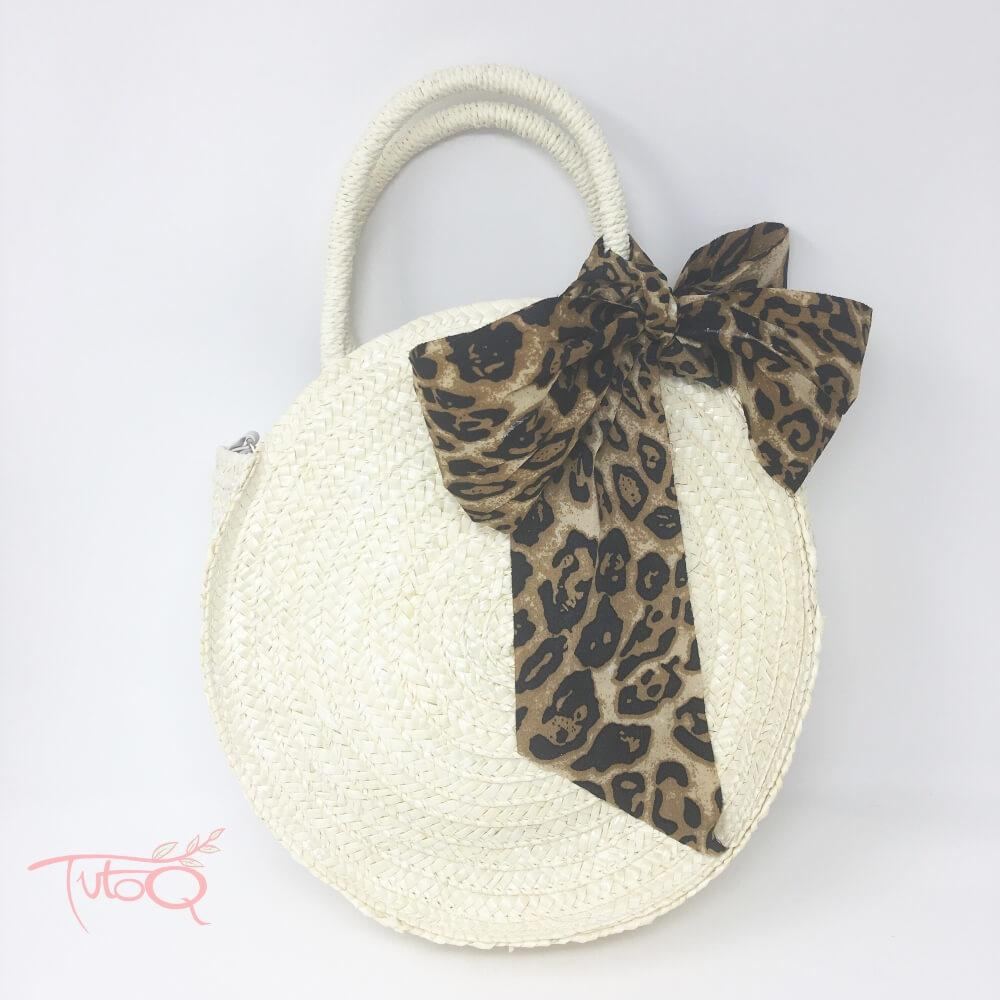 Bolso rafia/animal