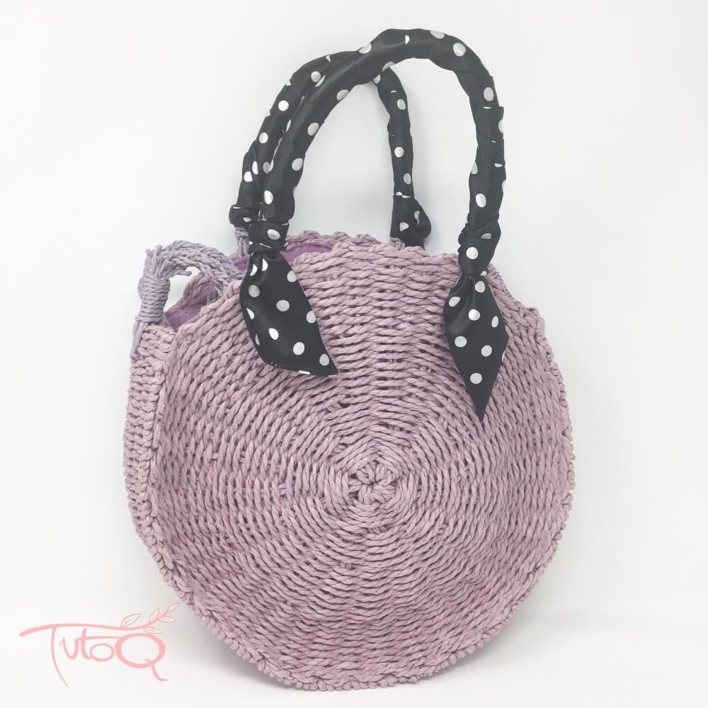 Bolso yute purple